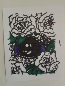 eye carnation sticker drawing artist project