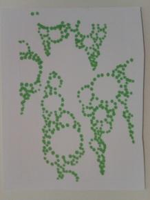 pointillism circle sketch sticker drawing