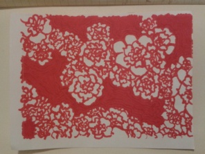 red ink sharpie sticker carnation daily drawing