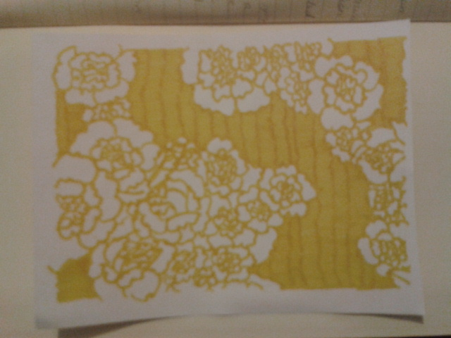 yellow ink carnation texta drawing