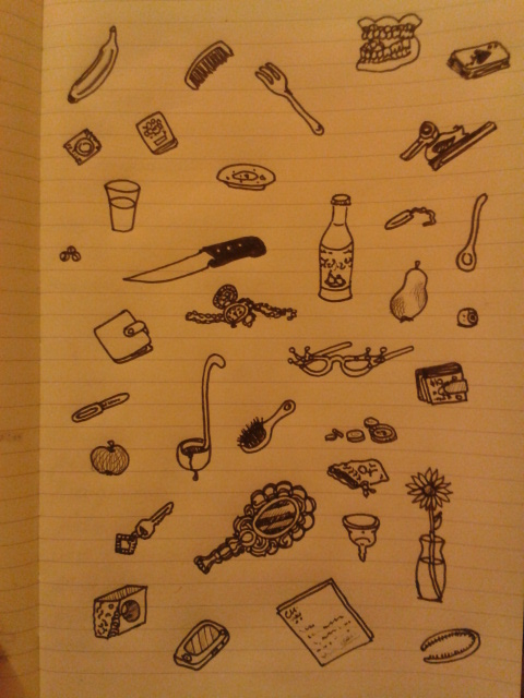 adrawingaday illustrations everyday objects moleskine