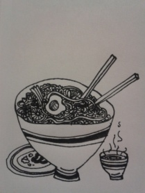 drawingdaily kellymarietheartist ink food sketching
