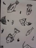 drawing daily artist tropical fish illustration