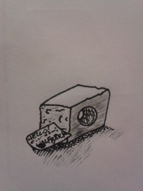 daily drawing half brick sketching exercise