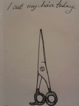 kellymarietheartist scissor sketch ink drawing