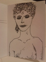 kellymarietheartist ink drawing diamond earrings and vunerability