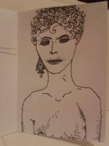 kellymarietheartist ink drawing diamond earrings and vunerability