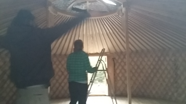 How a yurt looks from the inside