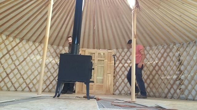 Planning floor build yurt construction