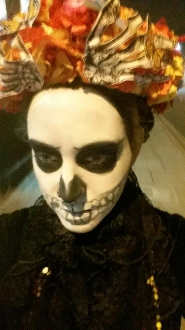 Skull face painted dia de los muertos