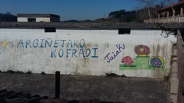 Graffiti art basque country ancient cemetary