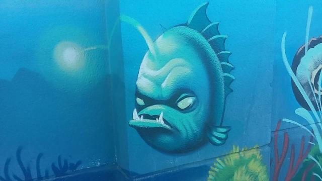 Anglerfish street art malaga