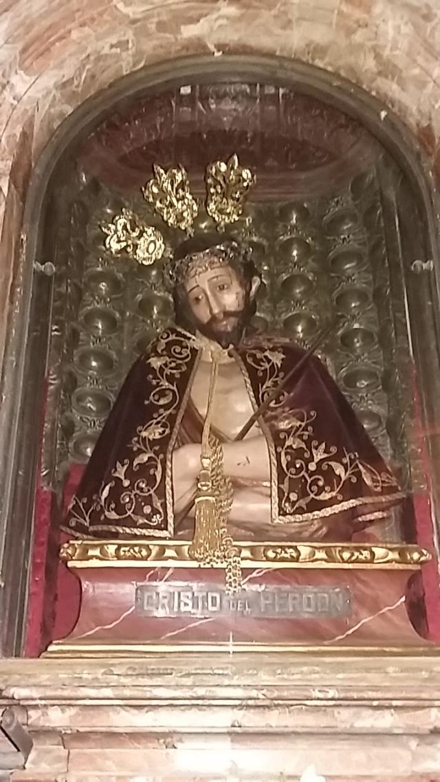 Jesus christ suffering sculpture