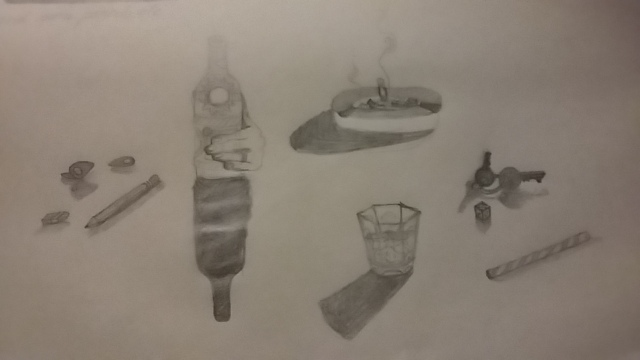 exercise in shading mundane barroom pencil sketches