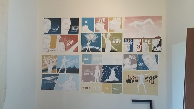 Completed bedroom mural painted poster illustrations