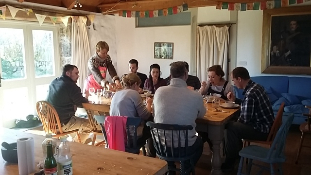 Fat Hen cookery school post workshop feast