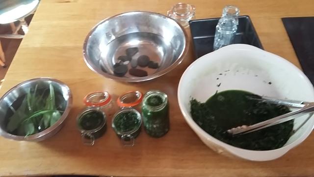 Wild garlic kimchi sauerkraut ferment